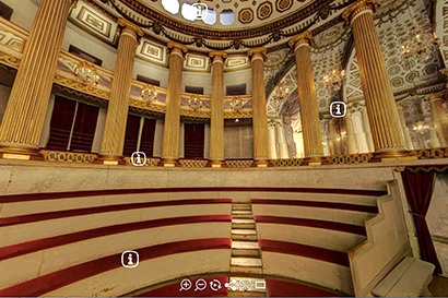 Virtual tour of Gustav King Gustav III's Theatre at Gripsholm Castle